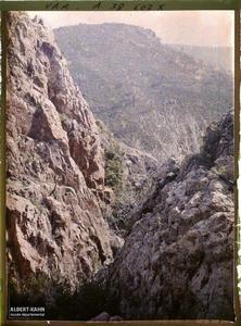 France, Agay, Le ravin des Roches Rouges. Le ravin des roches rouges