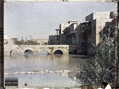 Syrie, Hama, Pont sur l'Oronte. Pont sur l'Oronte