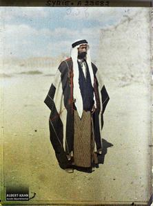 Syrie, Palmyre, Le Cheik de Sokna, Chef Bédouin, Village à 55 Kil. de Palmyre. Le cheikh du village
