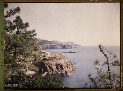France, L'Estérel, Paysage près du Trayas. Paysage près du Trayas