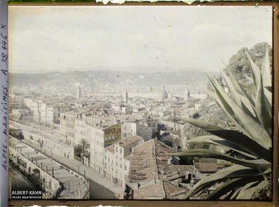 France, Nice, Panorama, vue prise du Château du Mont Boron, vue vers le Sud Ouest
