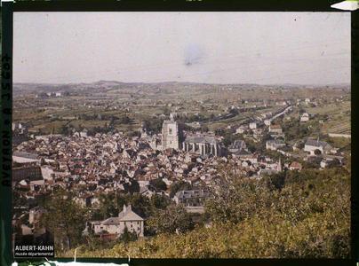 France, Villefranche de Rouergue (Aveyron), Panorama Sud de Villefranche