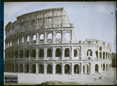 Italie, Rome, Le Colisée Extérieur.Colisée, vue d'ensemble
