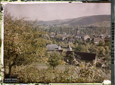 France, St Julien d'Empeyre (Aveyron), Coté Sud de St Julien, vue prise du mont Verdier