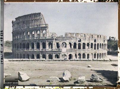 Italie, Rome, Colisée (Ensemble).Colisée, vue d'ensemble