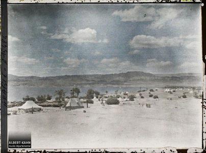 Arabie, Akaba, Fond du Golfe. Le camp des forces anglo-arabes, au bord du golfe d'Aqaba