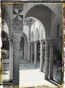 Algérie, Alger, Palais d'Eté du Gouverneur petit pavillon Mauresque.Le patio d'un petit pavillon dans le palais d'été du Gouverneur