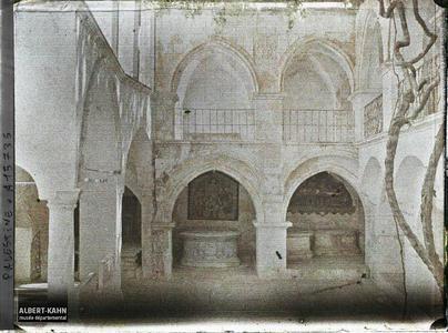 Palestine, Jérusalem, Maison de Caïphe (actuellement Couvent des Arméniens). Cour intérieure de la maison de Caïphe