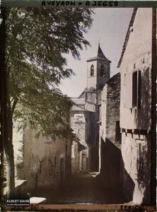 France, Najac, Vue vers l'Eglise