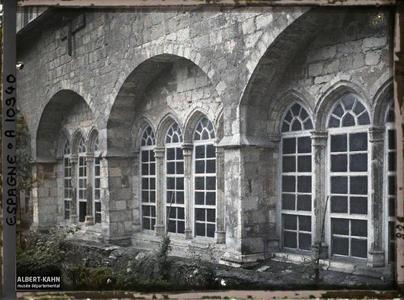Espagne, Santander, Le Jardin du Cloître de la Cathédrale (arcs du XIII eme S.).