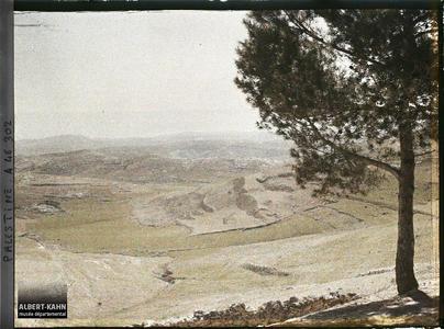 Syrie, Jérusalem. Paysage aux alentours de la ville