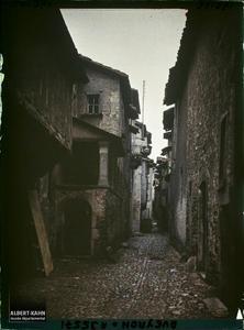 France, Villefranche de Rouergue (Aveyron), Aspect d'une vieille rue