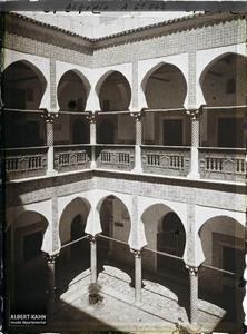 Algérie, Alger, Bibliothèque nationale - la Cour.Le patio de la Bibliothèque nationale (Dar Mustapha Pacha)