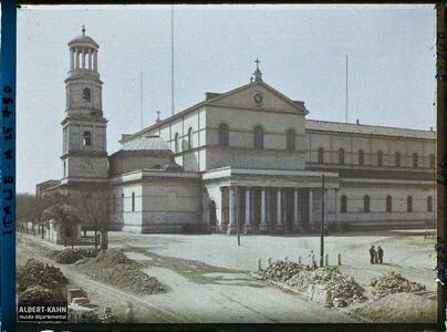 Italie, Rome, Vue d'ensemble extérieur (Egl. St Paul).Vue d'ensemble de la basilique Saint-Paul-hors-les Murs