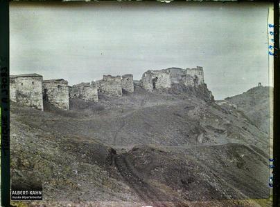 Turquie, Angora, Enceinte Est de la Ville haute, sur la droite, Observatoire de Tamerlan.