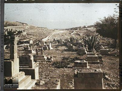 Syrie, Jérusalem, Monuments dans la Vallée de Josaphat. Cimetière musulman