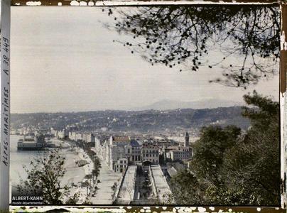 France, Nice, Panorama, vue prise du Château du Mont Boron, vue vers l'Est