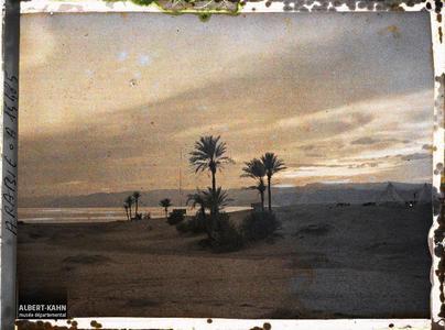 Arabie, Akaba, A la tombée de la nuit. Le camp britannique, au crépuscule