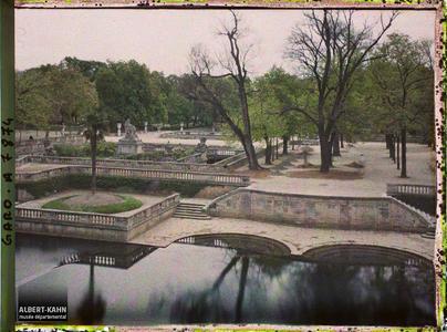 France, Nîmes, Les jardins de la Fontaine