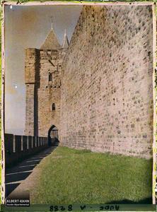 France, Carcassonne, Tour de l'Evêque.La tour de l'Evêque