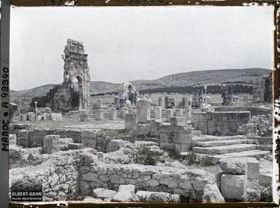 Maroc, Ruines de Volubilis, Le Forum. Le forum