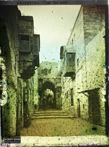 Palestine, Jérusalem, Bab-es-sil-Sélé, aspects de la Rue. Rue de la porte de la Chaîne (Tariq Bâb es Silseleh)