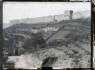 Syrie, Jérusalem, Enceinte Est et Porte Dorée. Flanc oriental de l'enceinte