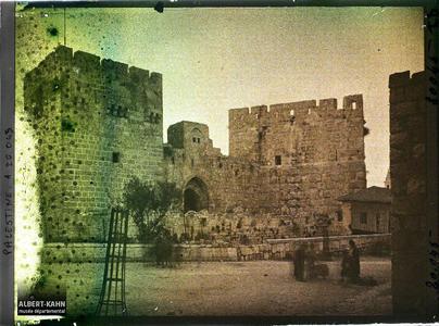 Syrie, Jérusalem, Tour de David et Porte de David.Tour et porte de David