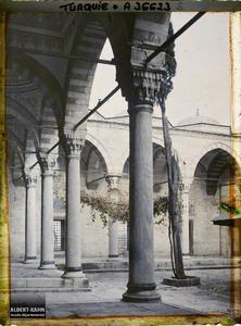 Turquie, Constantinople, Cour de la Mosquée du Sultan Selim 1er. Cour de la Sultan Selim Camii («Mosquée du Sultan Selim» )