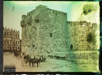 Syrie, Jérusalem, Porte de Jaffa.La porte de Jaffa