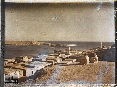 Arabie, El-Ouedj, El-Ouedj. Habitations sur le port et la mer Rouge