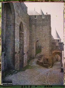 France, Carcassonne, La porte du Sénéchal. La porte du Sénéchal