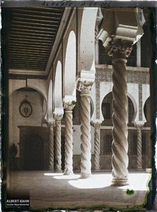 Algérie, Alger, Archevêché - arcades de la cour.Colonnade du patio de l'archevêché (ancien Dar Aziza)