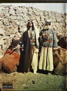 Syrie, Tell-Es-Shehab, Deux types du Hauran. Deux hommes, très probablement druzes
