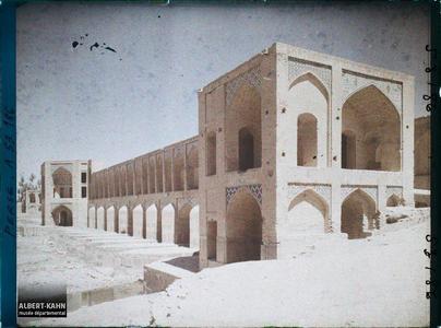 Perse, Ispahan, Pont de Polé Khadjou, Entrée du Pont.Entrée du pont de Khaju (Pol-e Khaju)