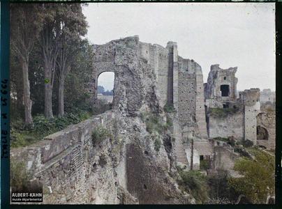Italie, Rome, Vue prise du Belvédère de la Villa Mills (à l'opposé de St Pierre).Vue prise du Belvédère de la Villa Mills