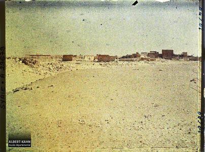 Syrie, Palmyre, Vue générale des ruines. Vue globale du site