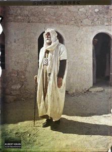 Syrie, Palmyre, Le Cheikh Abdallah, Bédouin sédentaire. Le cheikh Abdallah, chef bédouin sédentarisé