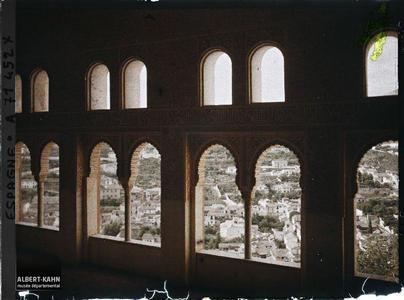Alhambra : palais Nasrides, le du Mexuar mihrab du Mexuar.