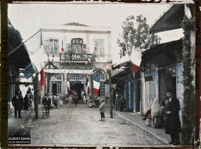 Syrie, Alexandrette, Réception du Général Gouraud au Konak. Réception au konak du général Gouraud