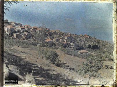 Syrie, Aley, Vue générale du village. Panorama de la ville