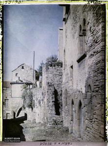 France, Cordes (Tarn), Aspect d'une vieille rue de la Ville haute