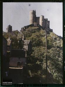 France, Najac, Le Château. Côté Ouest
