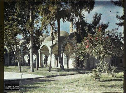 Syrie, Damas, Tekia du Sultan Sélim. Les Coupoles. Cour et bâtiments annexes de la Tekkiye es Suleymaniye