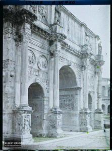 Italie, Rome, Arc de Constantin (profil).Arc de Constantin