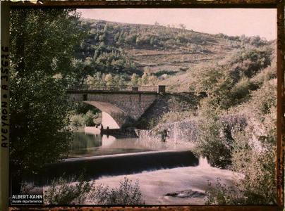 France, Vallée de l'Alzou, L'Alzou et le pont du Chin de fer (ligne de Capdenac à Toulouse)