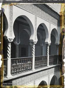 Algérie, Alger, Archevêché - Galerie du 1er Etage.La galerie du premier étage de l'archevêché (ancien Dar Aziza)
