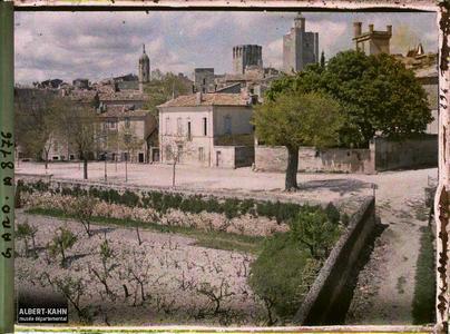 France, Uzès, Panorama depuis la promenande