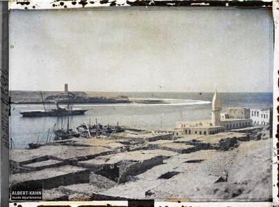 Arabie, El-Ouedj, El-Ouedj. Habitations et bateaux au port