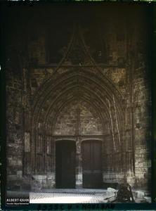 France, Villefranche de Rouergue (Aveyron), Portail de l'Eglise Notre Dame.